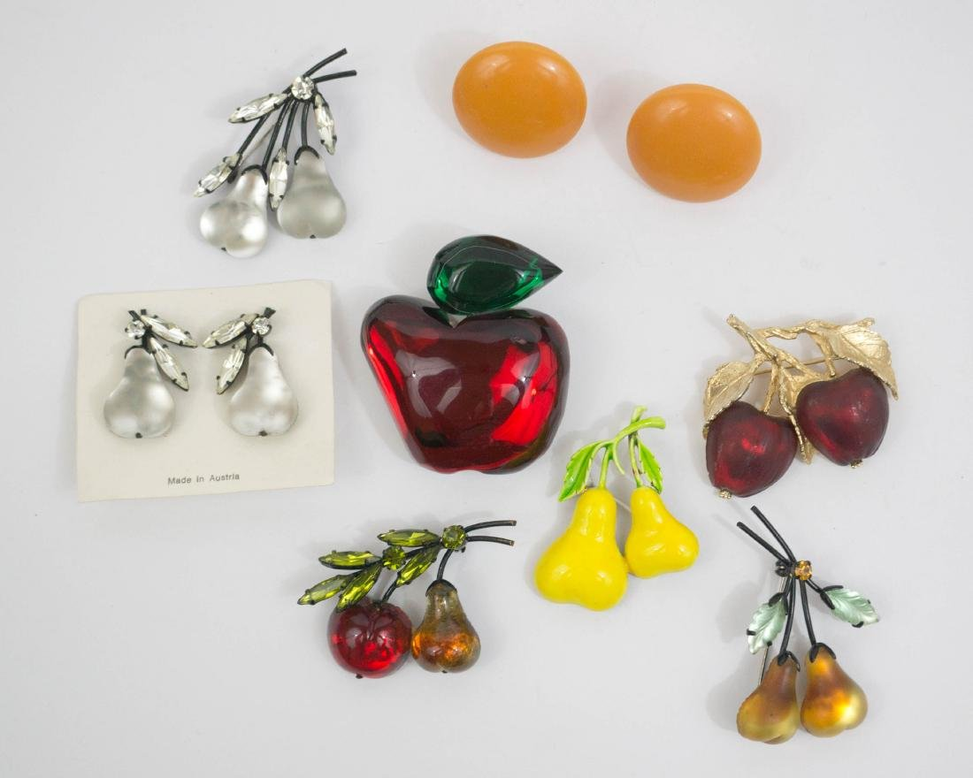 Vintage Figural Fruit Costume Jewelry