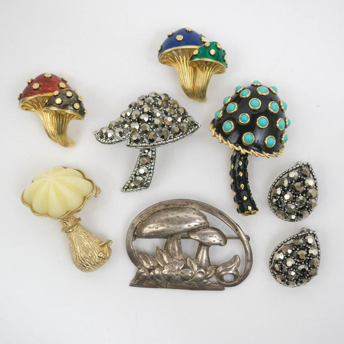 Vintage Costume Jewelry Figural Mushrooms