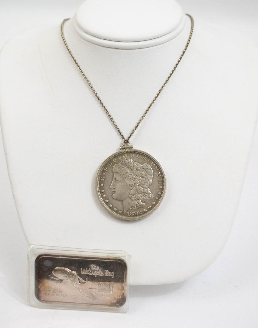 1882 Morgan Dollar Necklace, Watergate Bug Bar