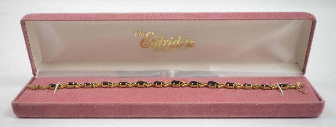 14k Gold and Sapphire Bracelet with Diamonds - 3