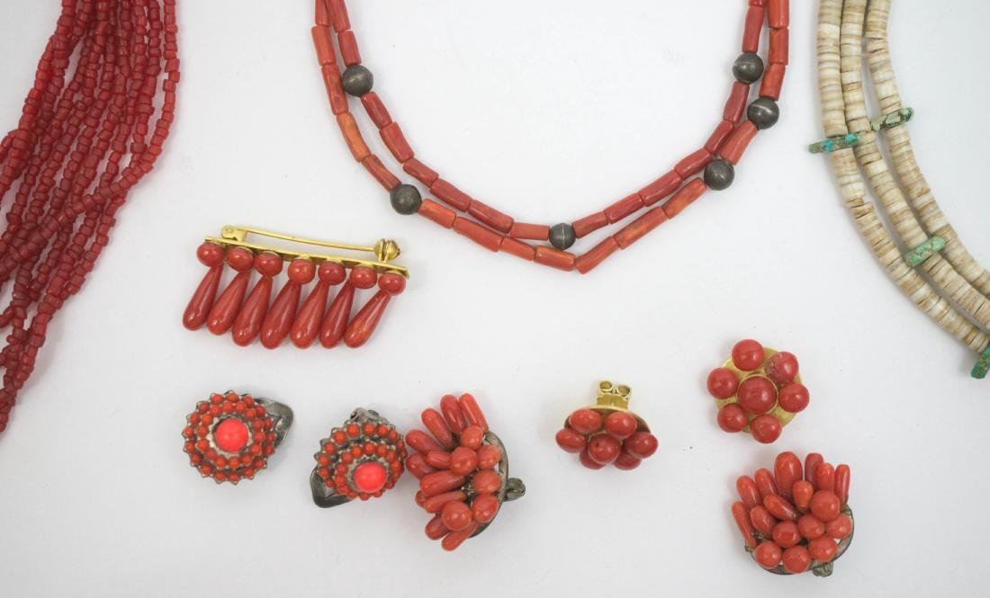 Group of Vintage Southwest Coral Jewelry - 2