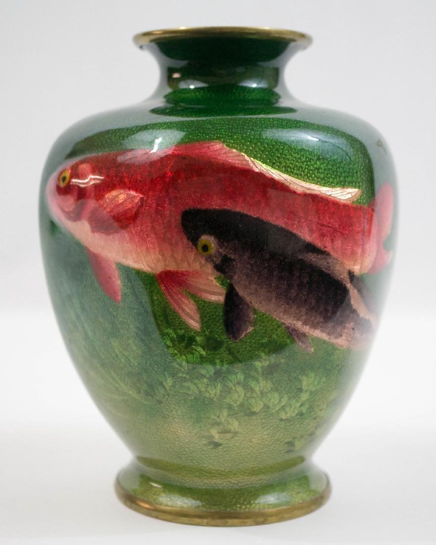 Old Japanese Cloisonne Ginbari Vase