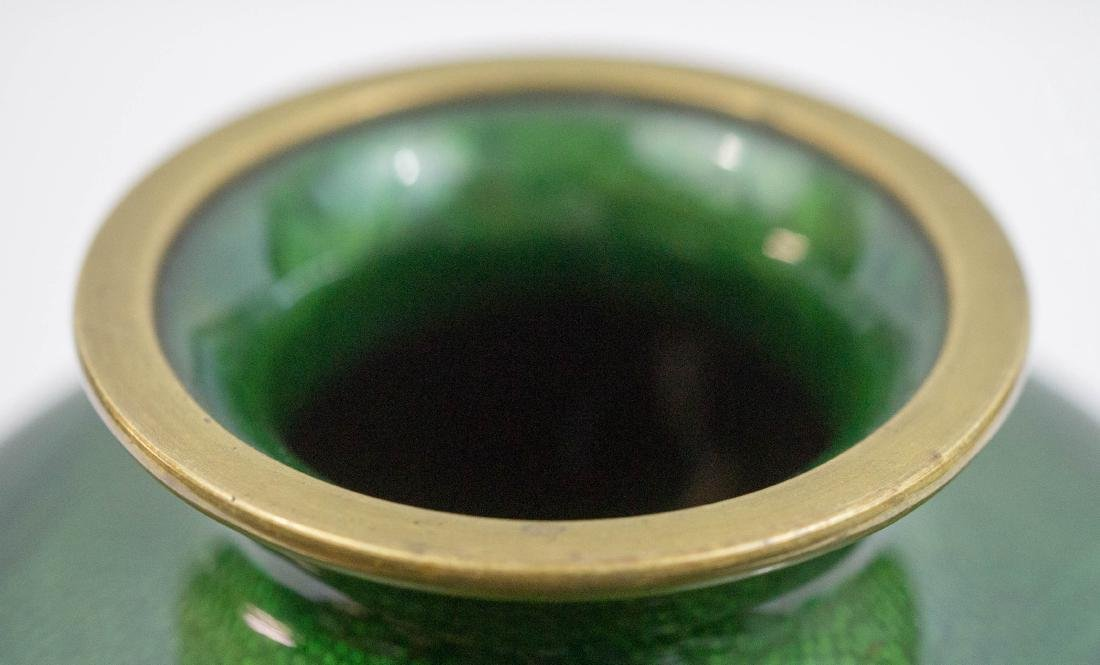 Old Japanese Cloisonne Ginbari Vase - 3
