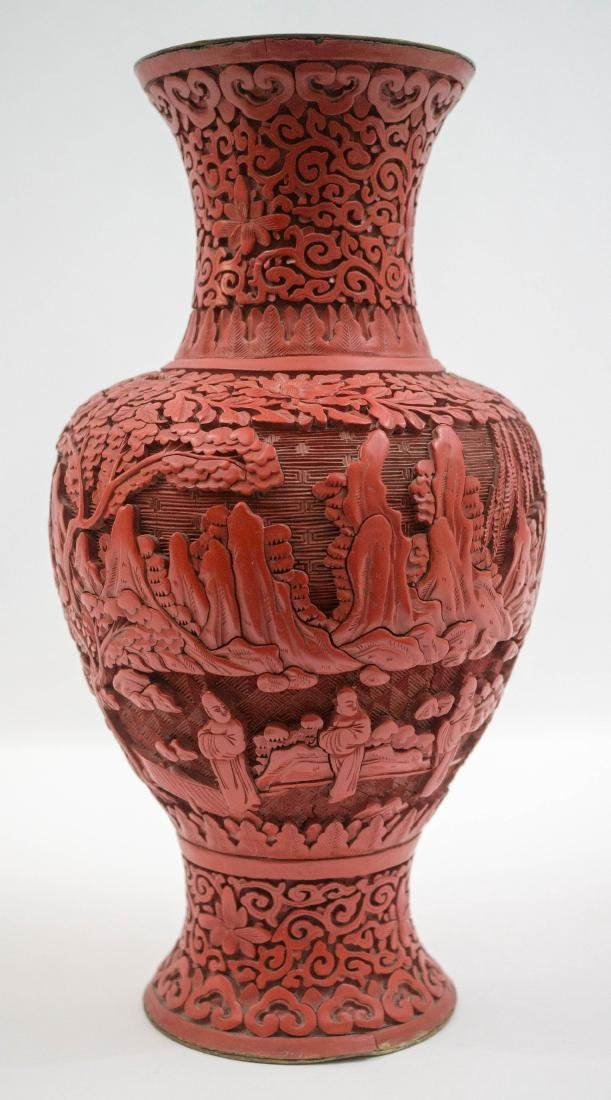An Old Chinese Cinnabar Vase