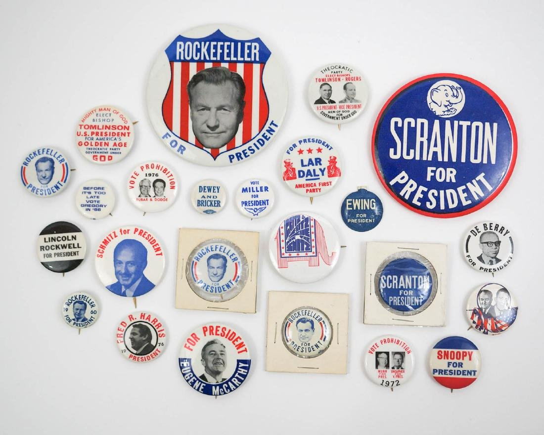 Group of Vintage Presidential Campaign Buttons
