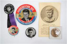 JFK John F Kennedy Original Buttons and Medal