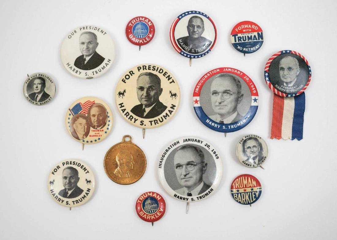 Harry S. Truman Group of Fifteen Pinback Buttons