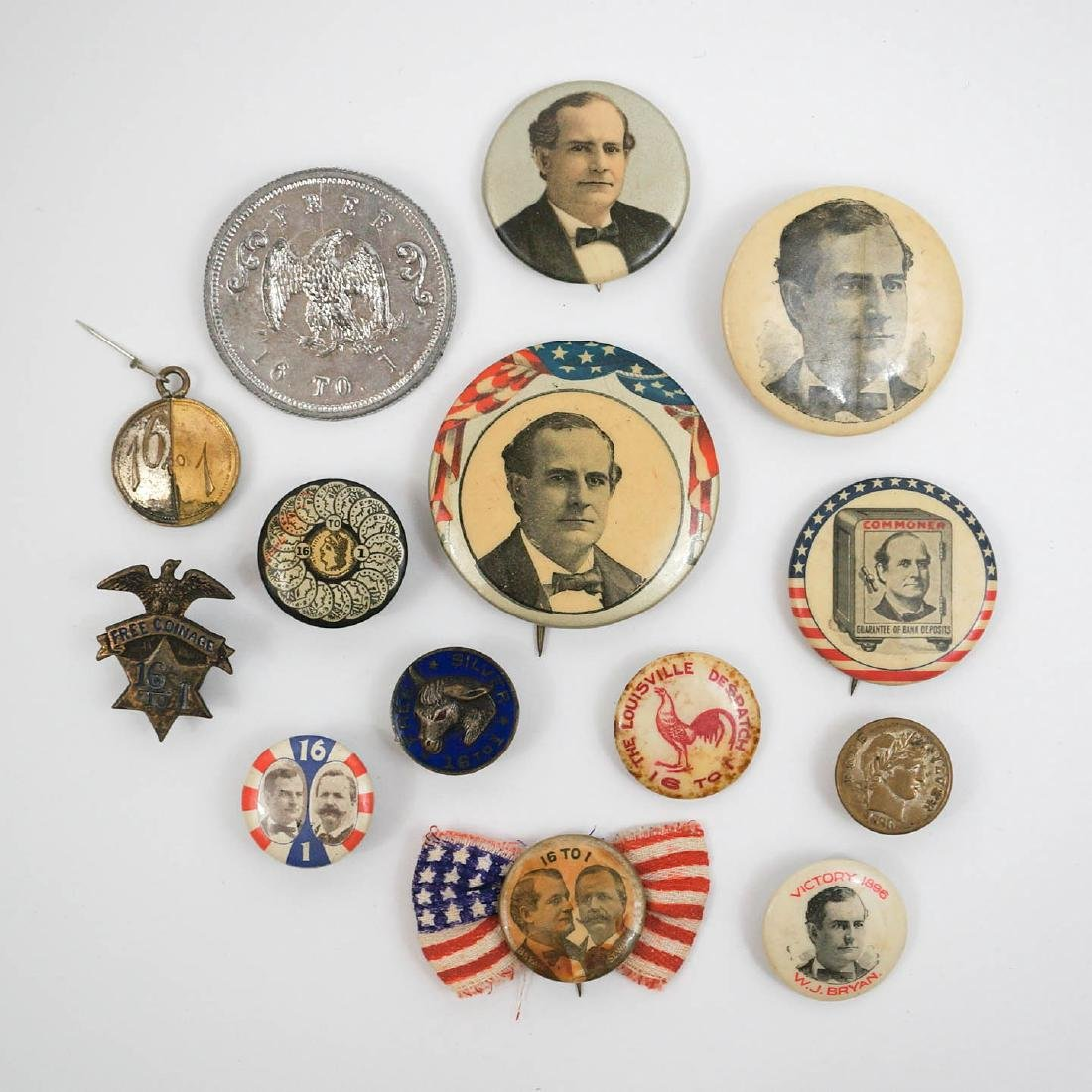 William J. Bryan Group of Fourteen Campaign Items
