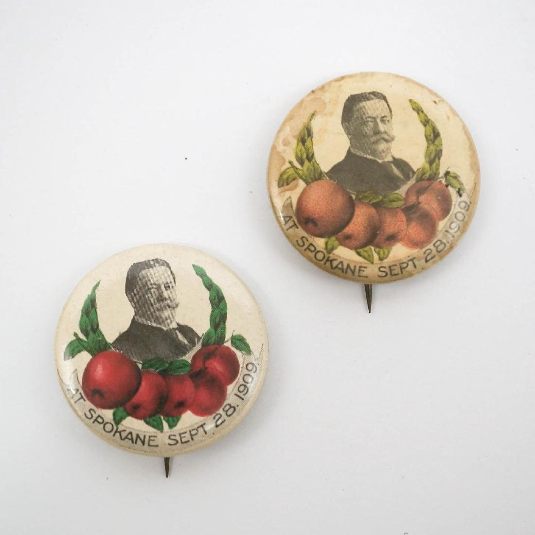 William H. Taft At Spokane Buttons, Two