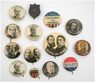 Charles E. Hughes Group of Fourteen Buttons