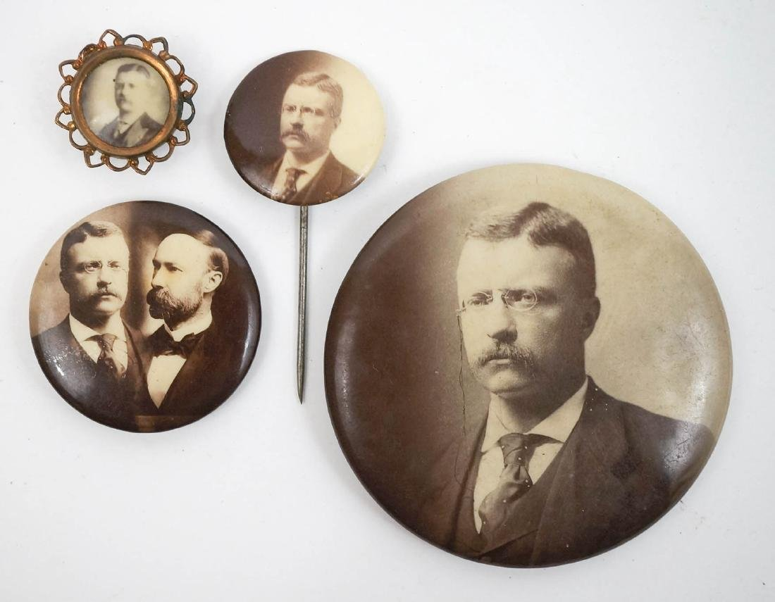 Roosevelt Real Photo Pinback Buttons with Jugate