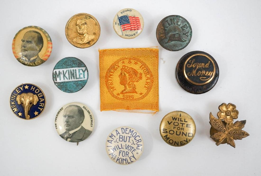 William McKinley Group of Twelve Campaign Items