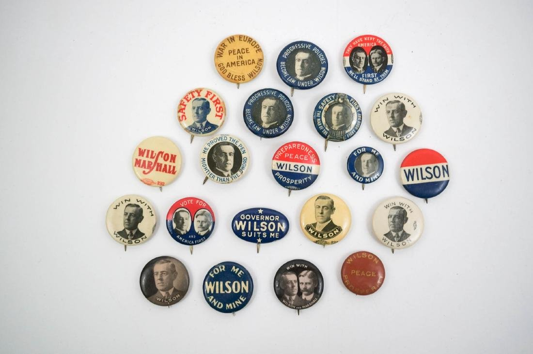 Woodrow Wilson Group Twenty-One Campaign Items