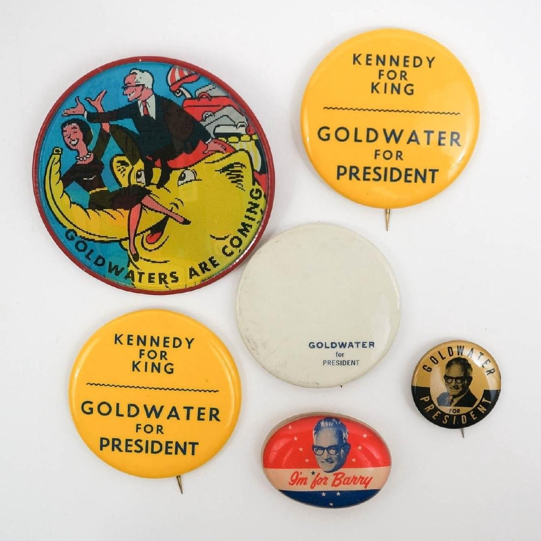Barry Goldwater Group of Six Campaign Items