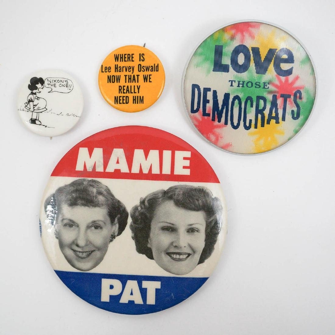 Group of Four 1960's/70's Political Pinbacks