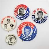 Robert F. Kennedy Group Five Pinback Buttons