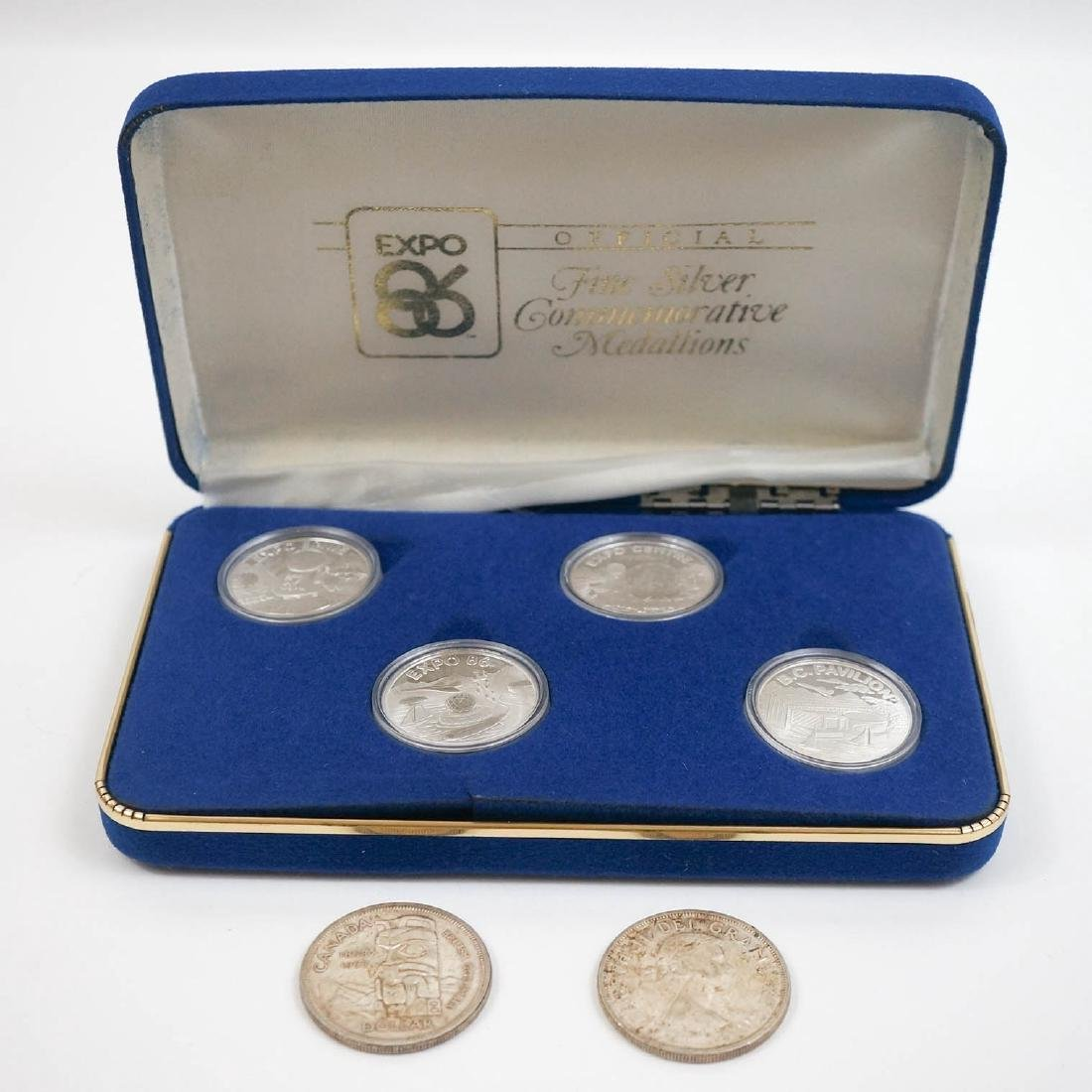 Group Silver Canadian Dollars and Commemoratives