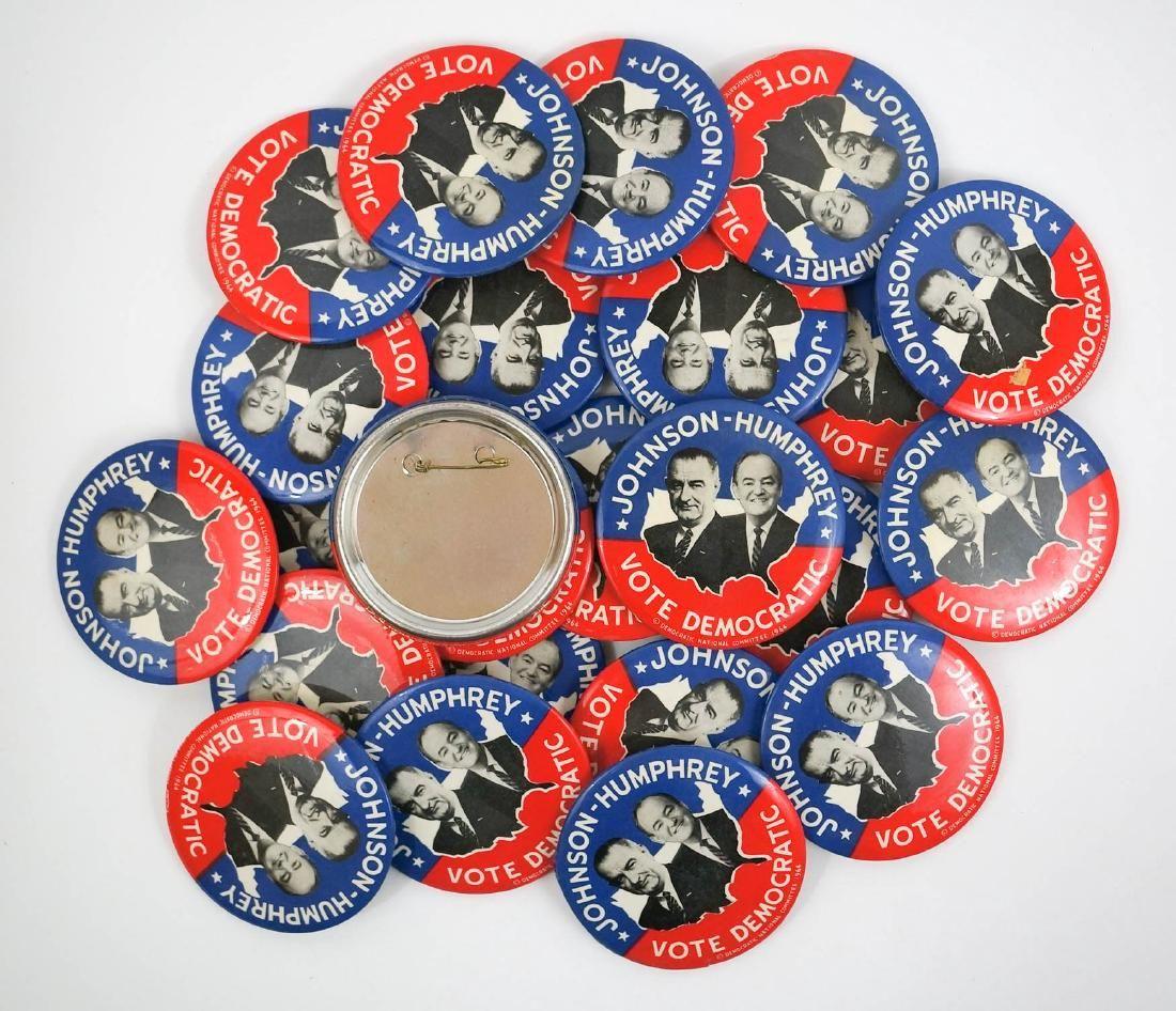 "Johnson-Humphrey 3.5"" Group of Twenty Five Buttons"