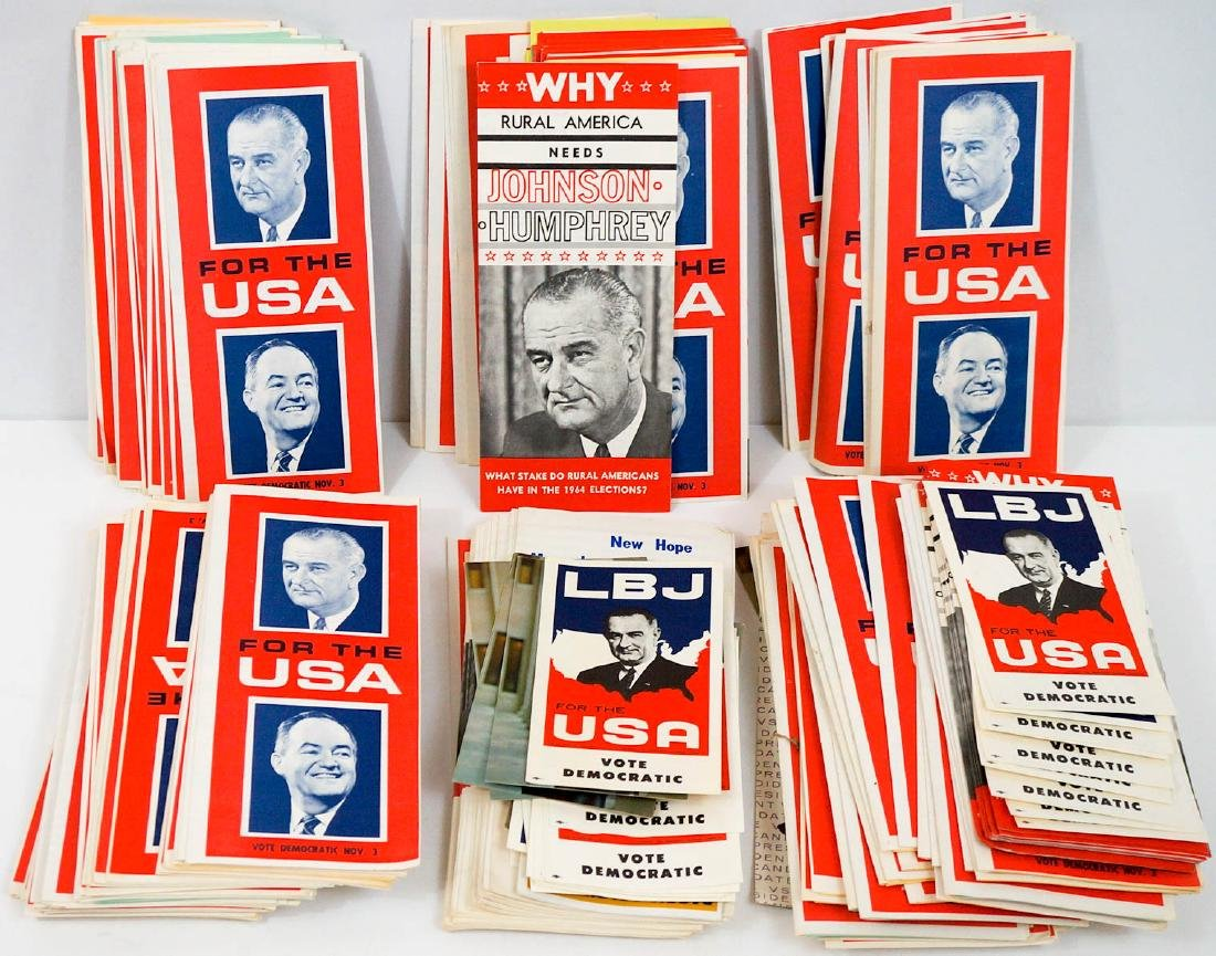 Lyndon B. Johnson Large Group NOS Brochures