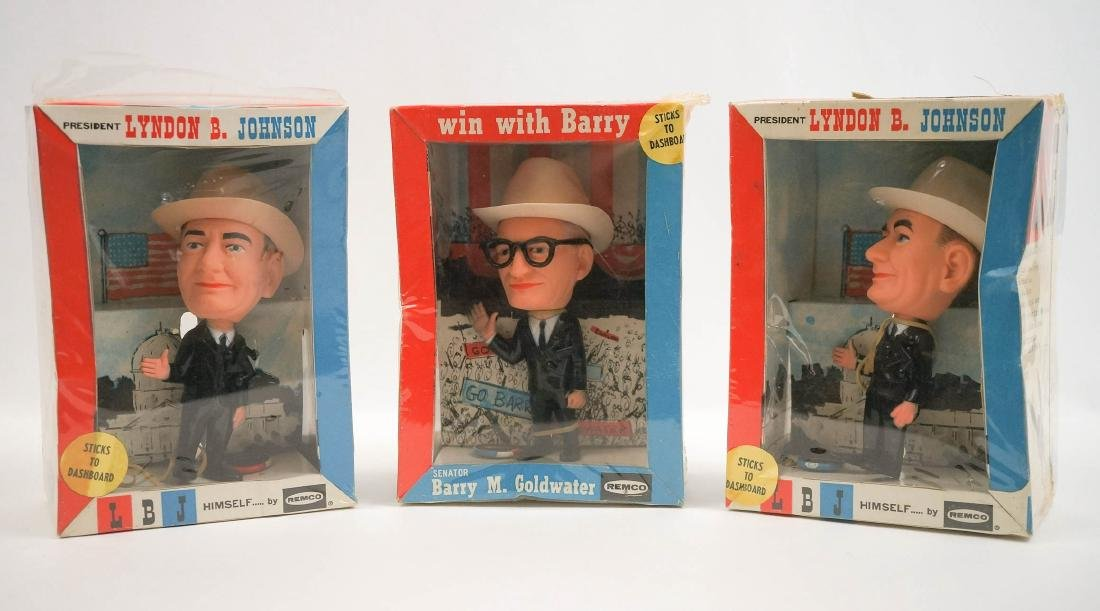 Three Vintage Remco Presidential Candidates MIB