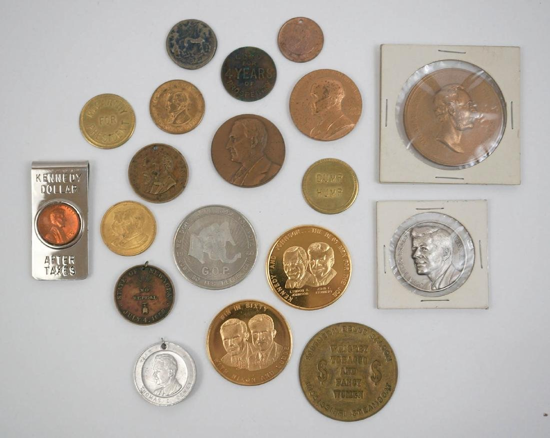 Presidential Medals and Assorted Trade Tokens