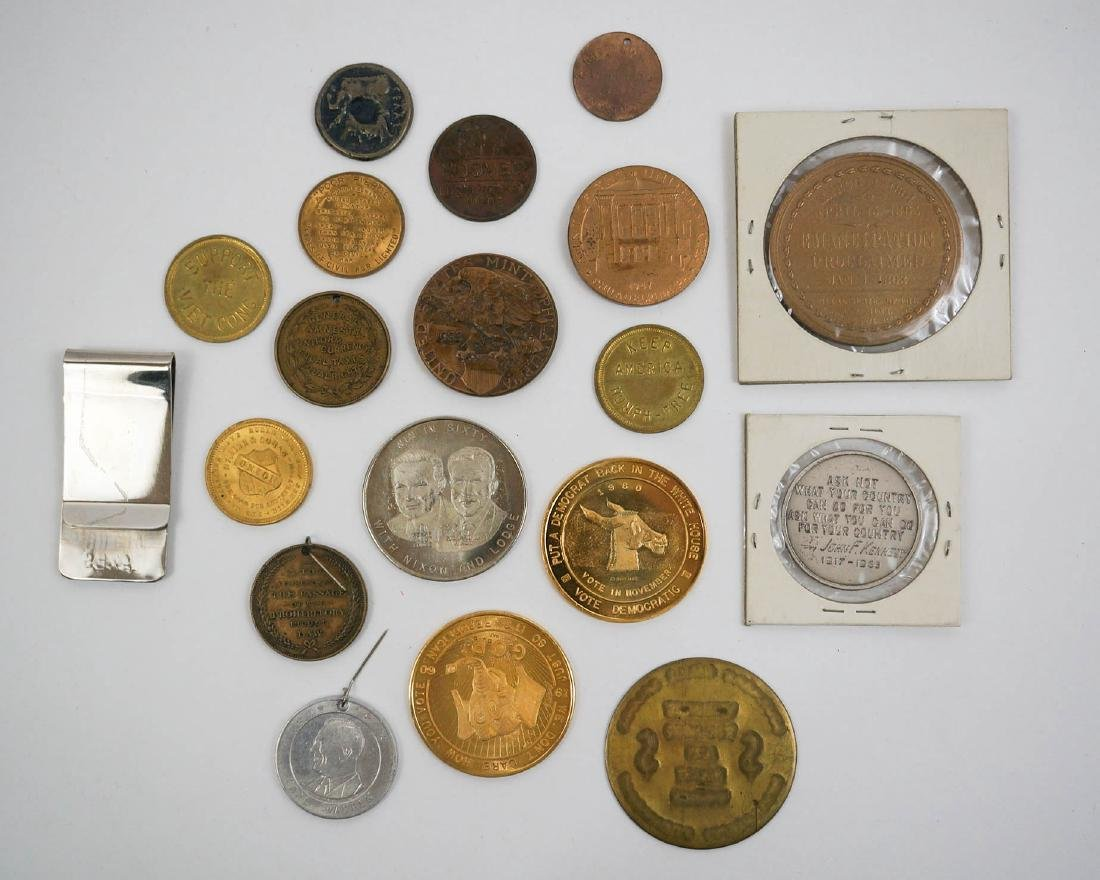 Presidential Medals and Assorted Trade Tokens - 2