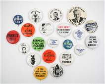 A Group of Vintage Anti Candidate Pinback Buttons