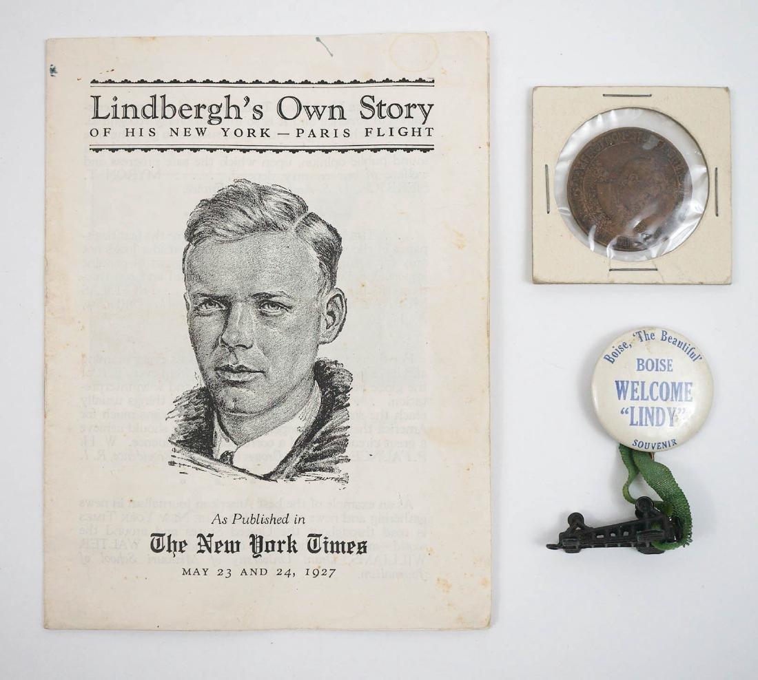 Scarce Charles Lindbergh Boise, Idaho Button