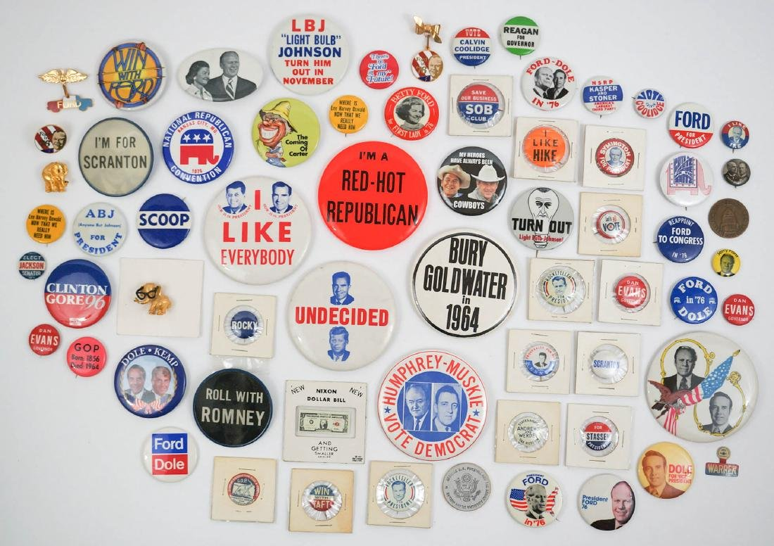 Group Sixty Political Pinback Buttons