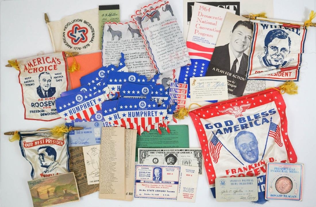 Group of Vintage Campaign Items