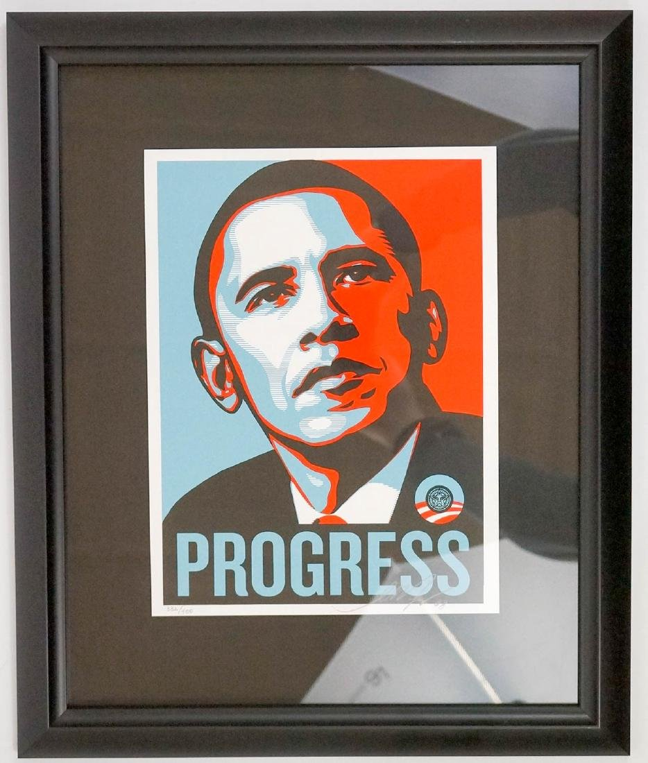 Shepard Fairey (Obey) Signed Screenprint in Colors