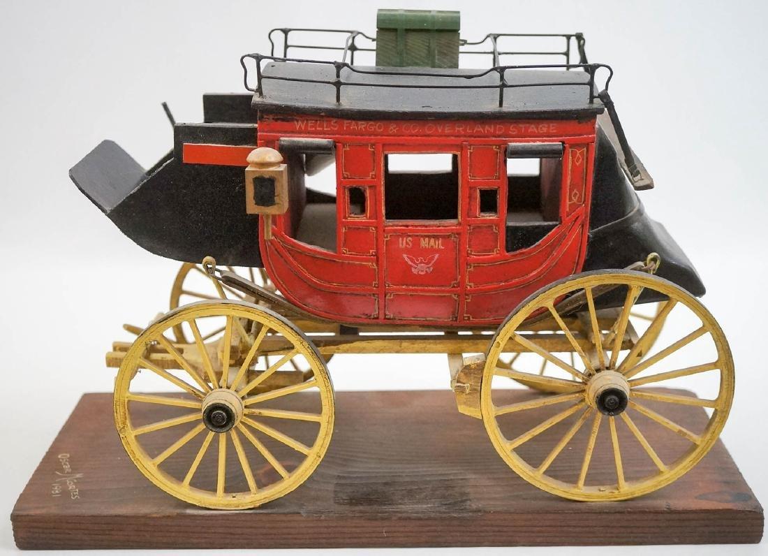 Oscar Cortes Signed Stagecoach Model