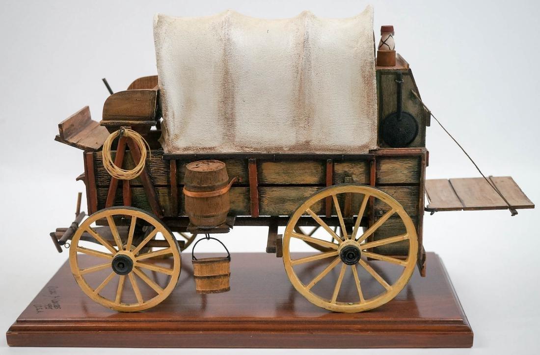 Oscar Cortes Signed Stagecoach Model - 2