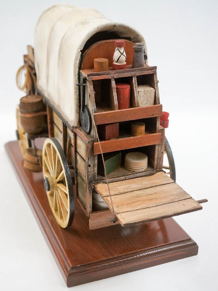 Oscar Cortes Signed Stagecoach Model - 4