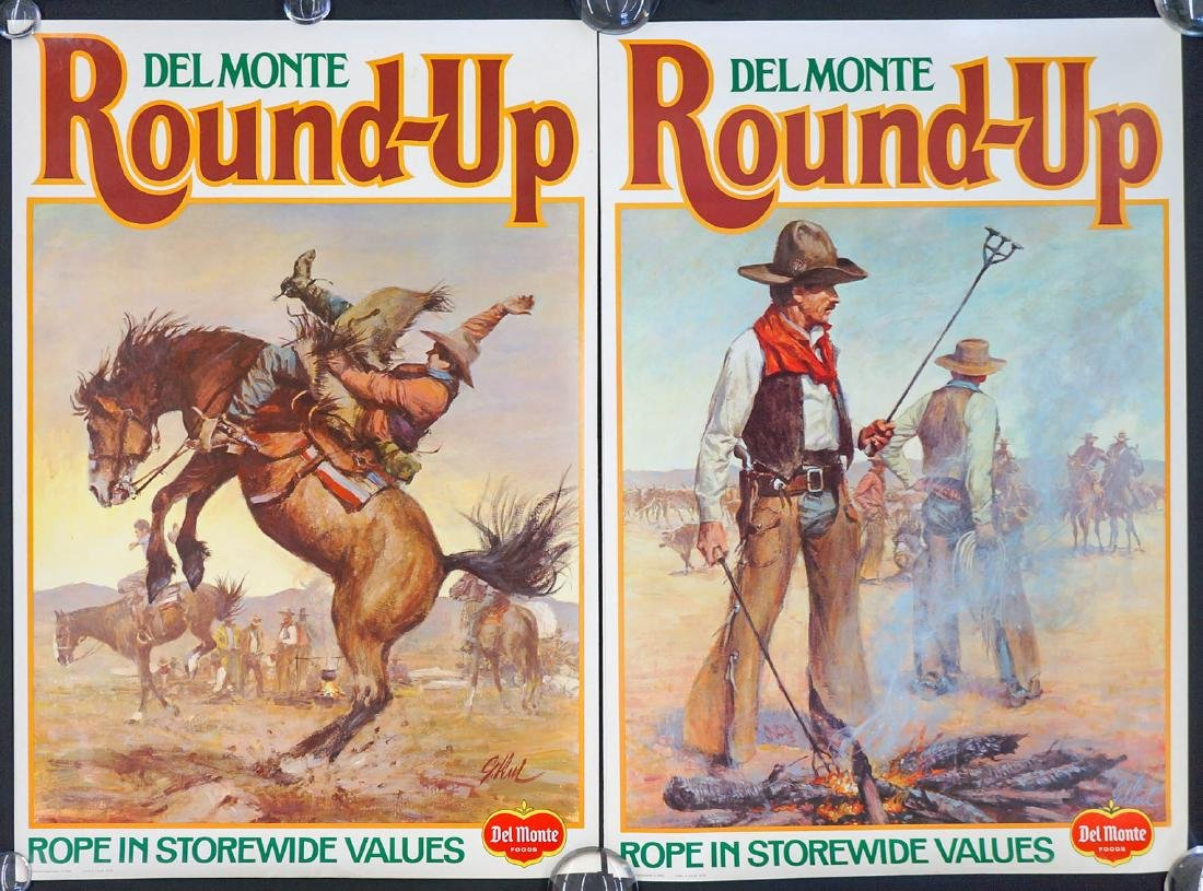 Vintage Del Monte Two-Sided Grocery Store Posters