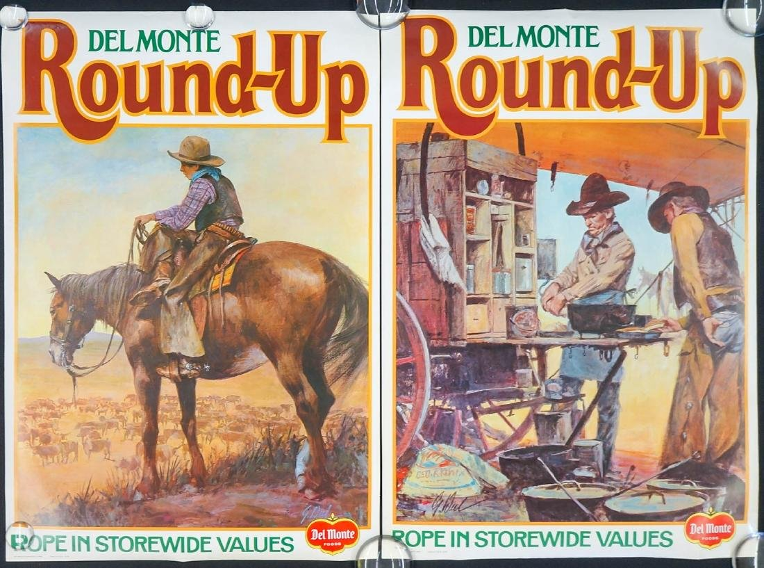 Vintage Del Monte Two-Sided Grocery Store Posters - 2
