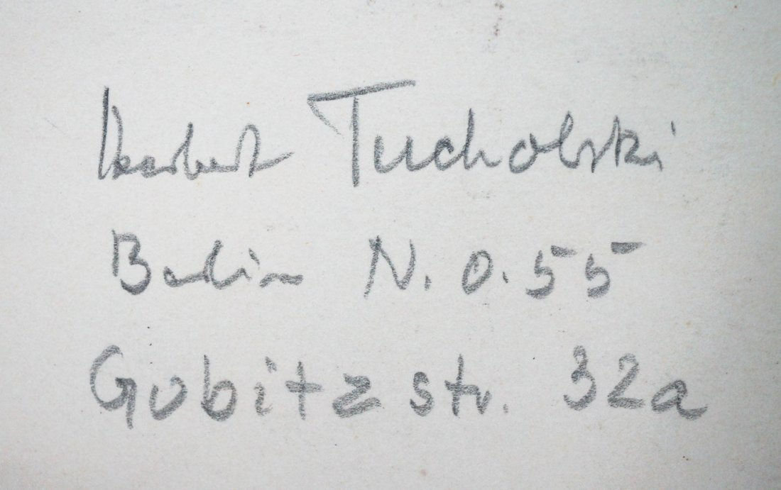 Lot of 2 Herbert Tucholski German Signed Woodcuts. - 3