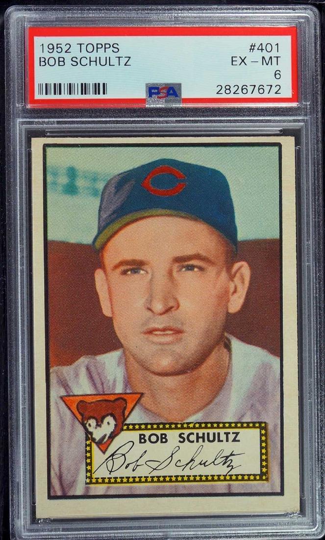 1952 Topps Bob Schultz #401 PSA 6 EX-MT