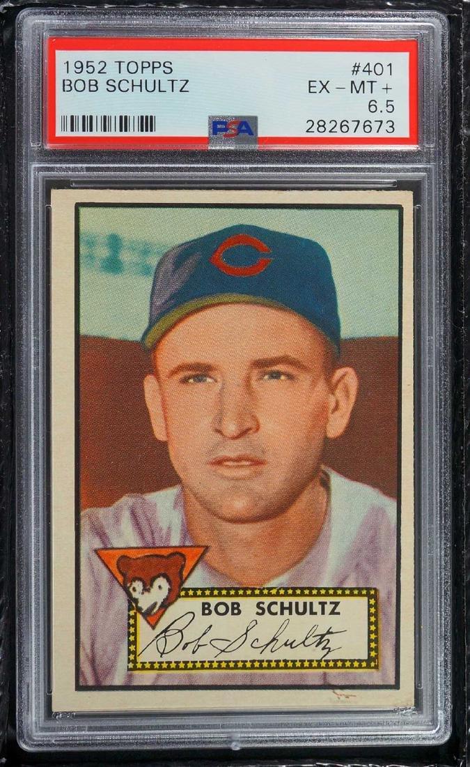 1952 Topps Bob Schultz #401 PSA 6.5 EX-MT+