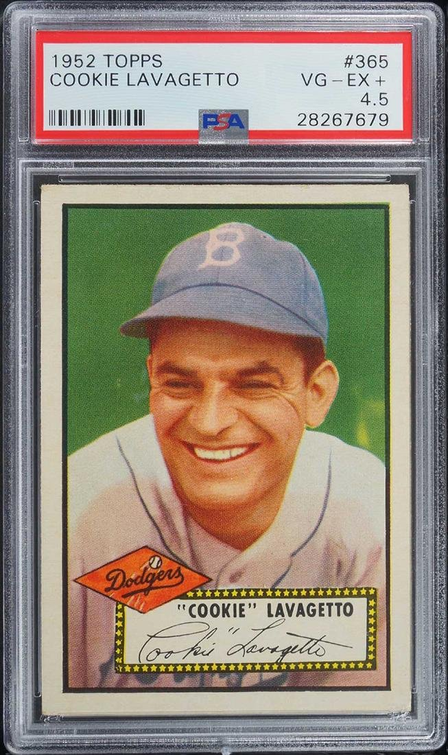 1952 Topps Cookie Lavagetto #365 PSA 4.5 VG-EX+