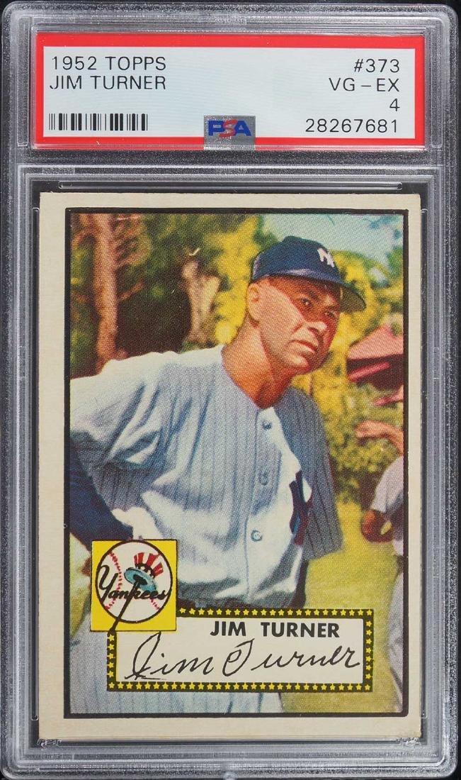 1952 Topps Jim Turner #373 PSA 4 VG-EX