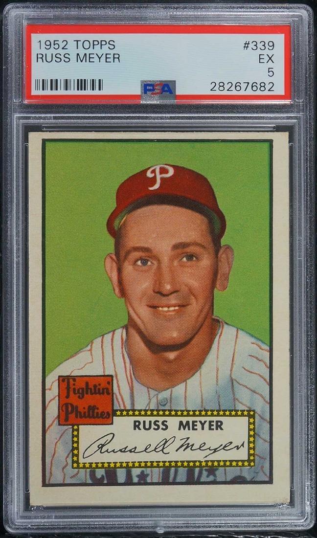 1952 Topps Russ Meyer #339 PSA 5 EX+