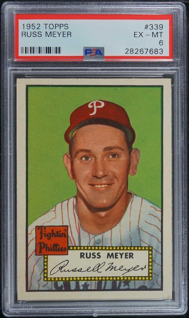 1952 Topps Russ Meyer #339 PSA 6 EX-MT