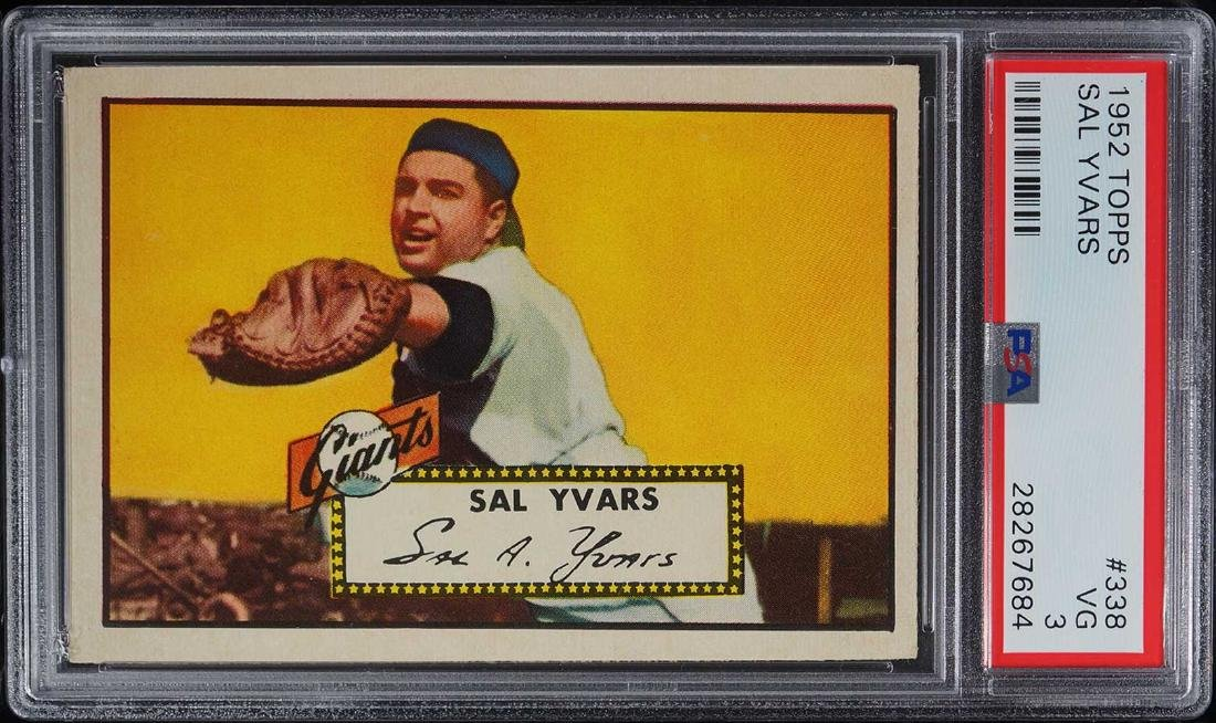 1952 Topps Sal Yvars #338 PSA 3 VG