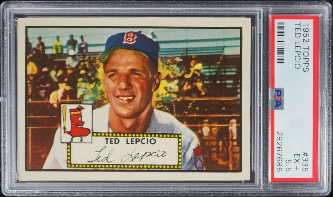 1952 Topps Ted Lepcio #335 PSA 5.5 Excellent+