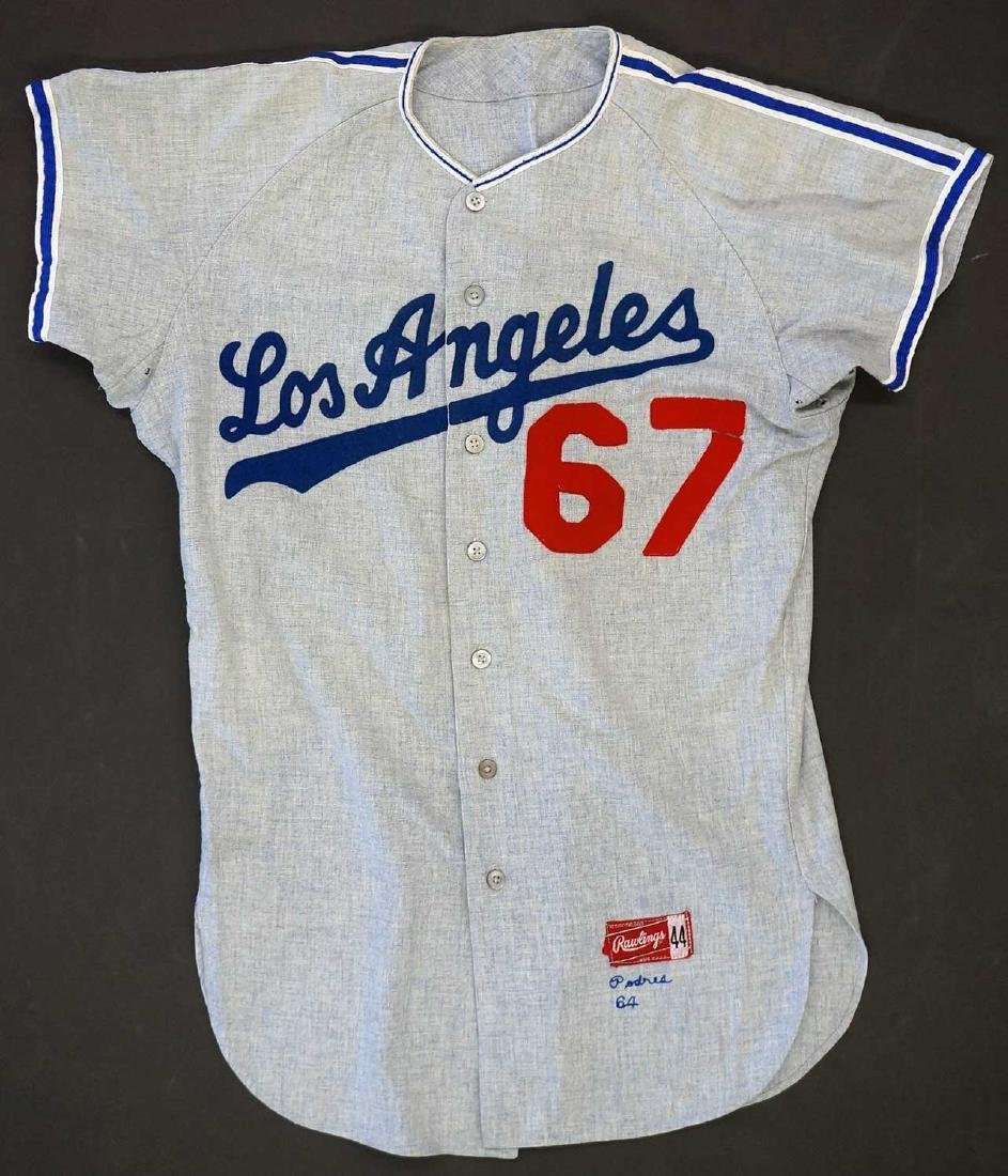 Johnny Podres LA Dodgers Game Used Jersey