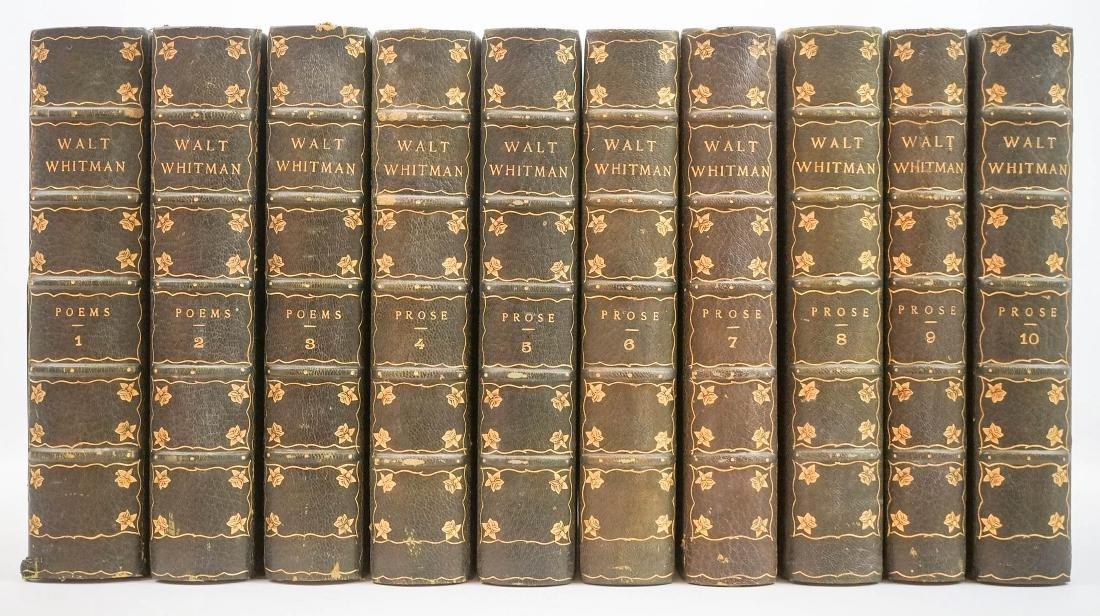 10 Volume Complete Works of Walt Whitman