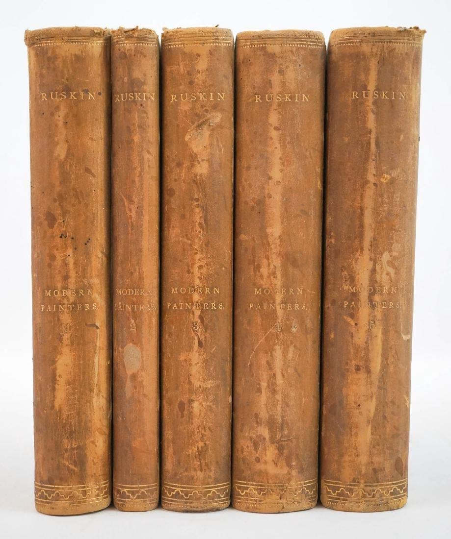Modern Painters by John Ruskin 1865 (5 Volumes)