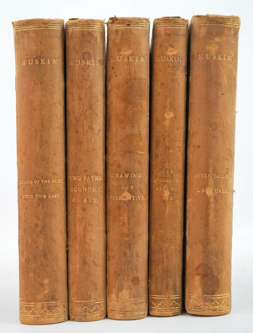Group of Five John Ruskin Books