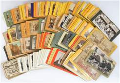 Large Group of 259 Antique Stereoviews